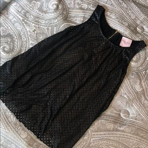 ROMEO & JULIET COUTURE perforated see thru zip top
